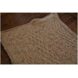 Porthleven Knitted Wool Throw Rope