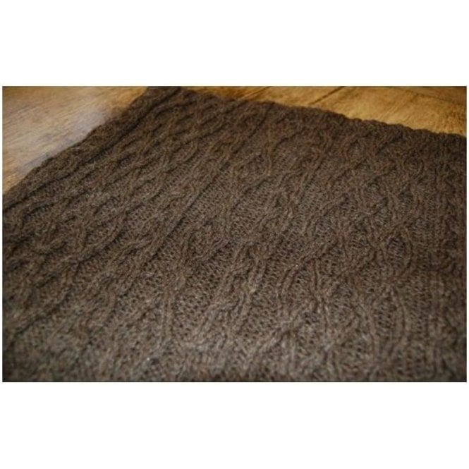 Art Of The Loom Porthleven Knitted Wool Throw Timber