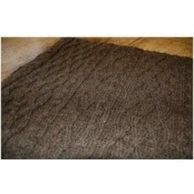 Porthleven Knitted Wool Throw Timber