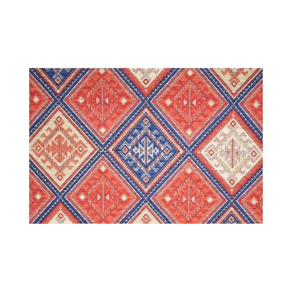 Kilim terracotta navy by brockhall designs at eden fabrics for Kilim designs