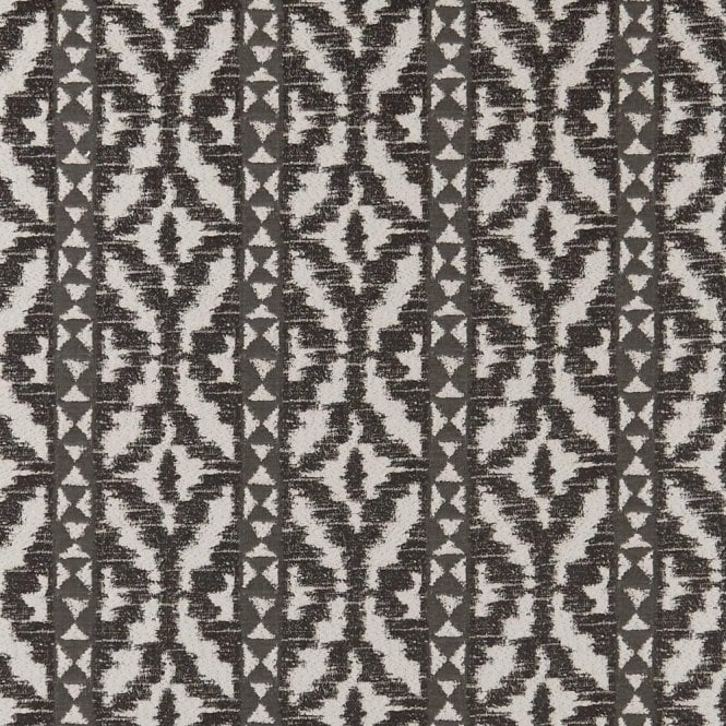 Clarke & Clarke Black+ White BW1005 Ikat Fabric