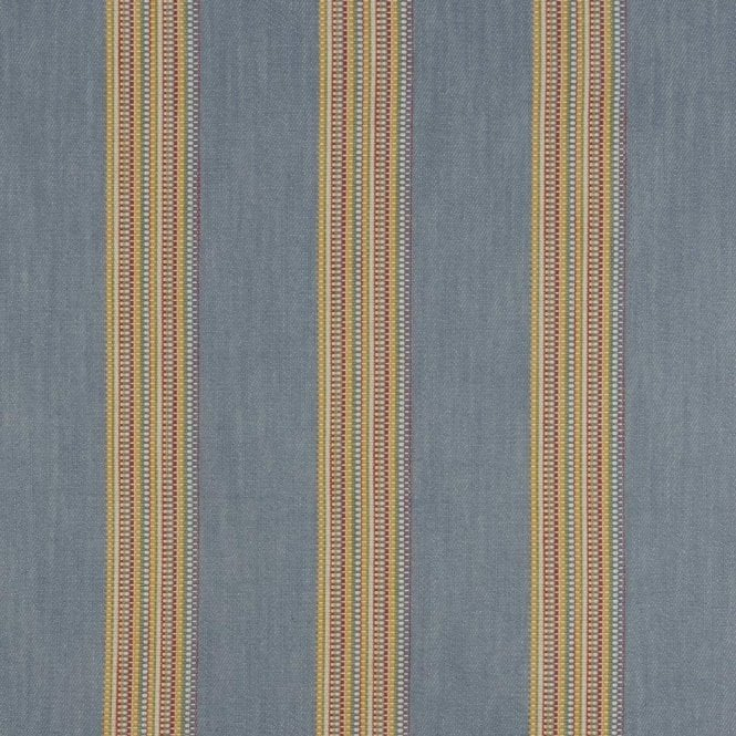 Clarke & Clarke Boho Stripe Denim/Rouge