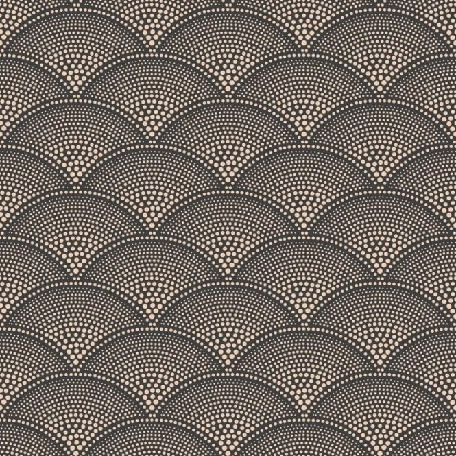 Cole & Son Feather Fan Charcoal/Bronze Wallpaper