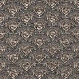 Feather Fan Charcoal/Bronze Wallpaper