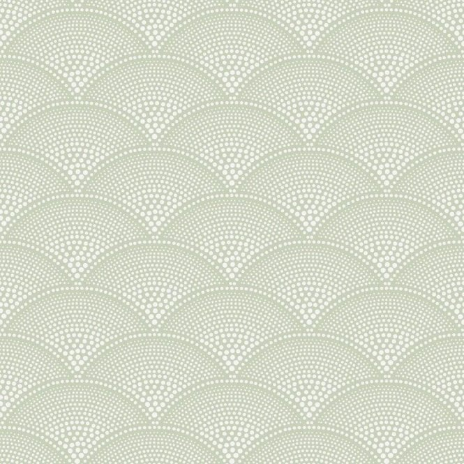 Cole & Son Feather Fan Old Olive Wallpaper