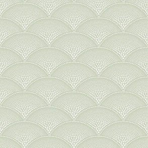 Feather Fan Old Olive Wallpaper