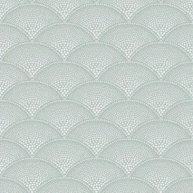 Feather Fan Seafoam Wallpaper