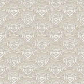 Feather Fan Taupe Wallpaper