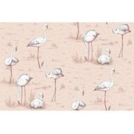 Flamingos Ballet Slipper Wallpaper
