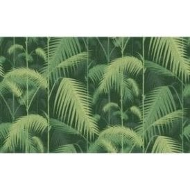Palm Jungle Forest Green Wallpaper