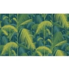 Palm Jungle Petrol/Lime Wallpaper