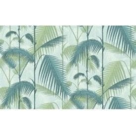 Palm Jungle Seafoam Wallpaper