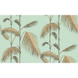 Palm Leaves Mint/Yellow Wallpaper