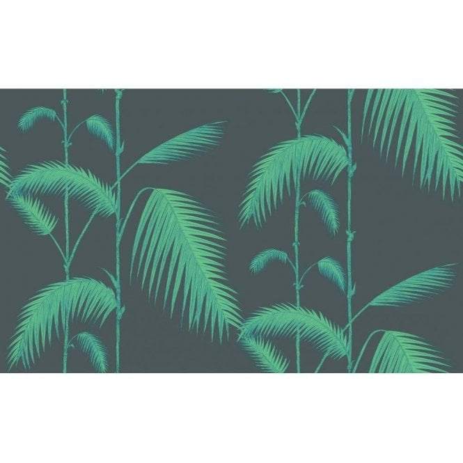 Cole & Son Palm Leaves Viridian/Lime Wallpaper