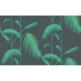 Palm Leaves Viridian/Lime Wallpaper