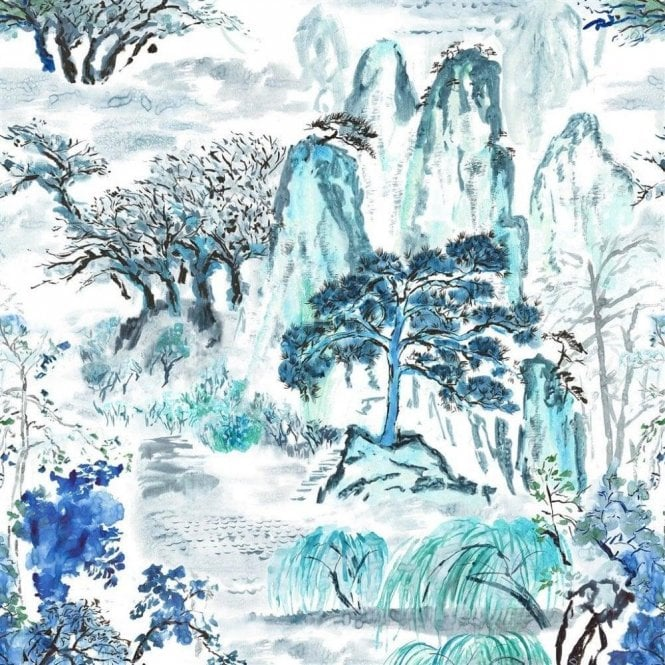 Designers Guild Jade Temple Cornflower