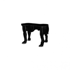 Big Dog Stool - Rex Black