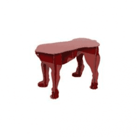 Big Dog Stool - Rex Red