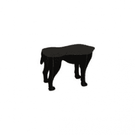 Dog Stool - Sultan Black