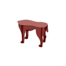 Dog Stool - Sultan Red