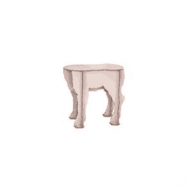 Lamb Stool - Scotty Pink