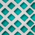 Mind The Gap Concrete Patch Turquoise Wallpaper