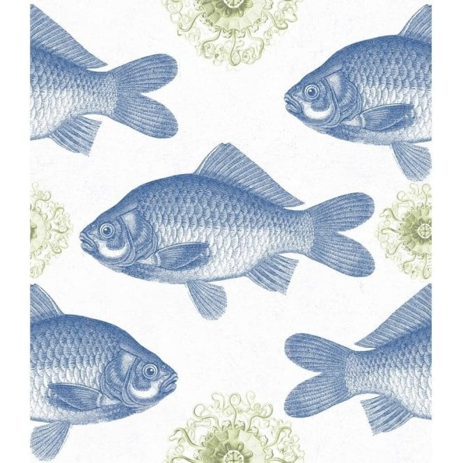 Mind The Gap Fish Blue Wallpaper