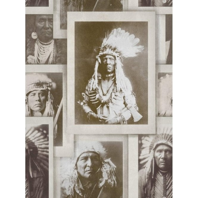 Mind The Gap Indian Chiefs Sepia Wallpaper