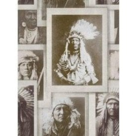 Indian Chiefs Sepia Wallpaper