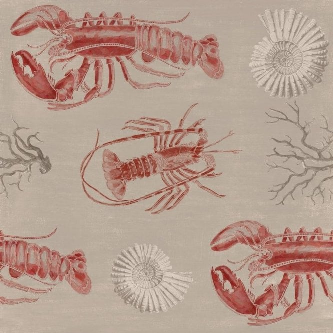 Mind The Gap Lobster Taupe Wallpaper