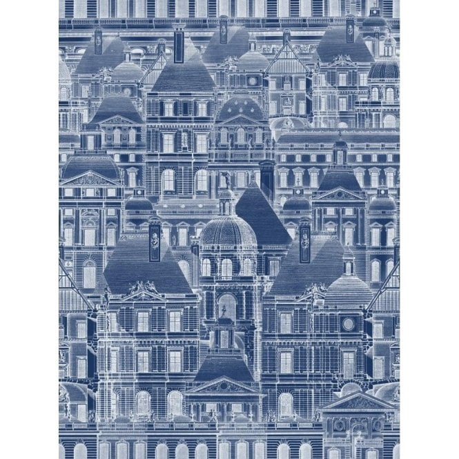 Mind The Gap Louvre Blue Wallpaper