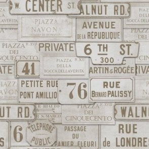 Vintage Signs Wallpaper