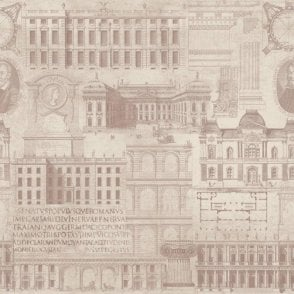 Vitruvius Taupe Wallpaper