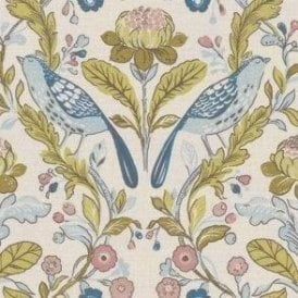 Orchard Birds Teal/Blush